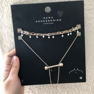 NWT Zara  pearl choker necklace